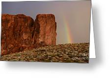 Rainbow And Red Rock Greeting Card