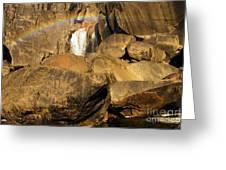 Rainbow At Bridal Veil Greeting Card