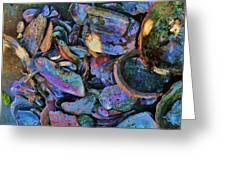 Rainbow Beach Greeting Card by Helen Carson