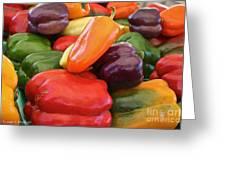 Rainbow Bells Greeting Card by Susan Herber