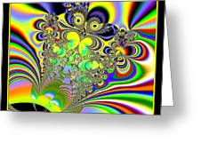 Rainbow Butterfly Bouquet Fractal 56 Greeting Card