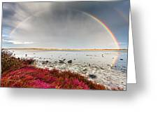 Rainbow By The Lake Greeting Card