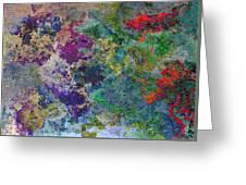 Rainbow Fish Watercolor Abstract Art Greeting Card