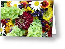 Rainbow Floral Display Greeting Card