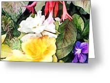 Rainbow Flower Basket Greeting Card