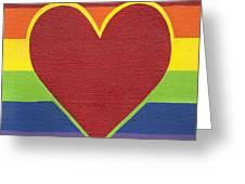 Rainbow Love Greeting Card by Kristi L Randall