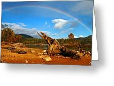 Rainbow Over Affric Greeting Card