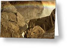 Rainbow Over Lower Bridal Veil Greeting Card