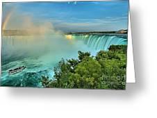 Rainbow Over Niagara Greeting Card