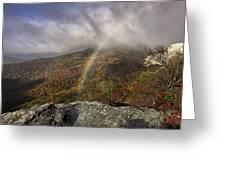 Rainbow Over Rough Ridge - Nc Autumn Scene Greeting Card