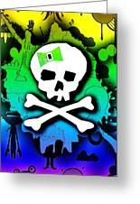 Rainbow Skull 2 Of 6 Greeting Card