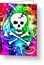 Rainbow Skull 3 Of 6 Greeting Card