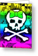 Rainbow Skull 4 Of 6 Greeting Card