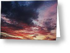 Rainbow Sky Greeting Card by Todd Sherlock