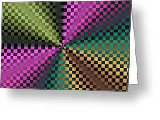 Rainbow Squares Greeting Card