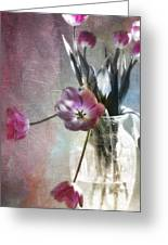 Rainbow Tulips Greeting Card