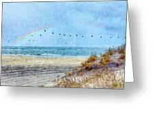 Rainbows And Wings II Greeting Card