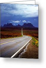 Rainclouds Over Monument Valley Greeting Card