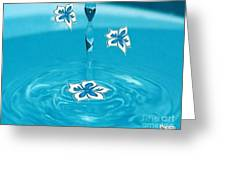 Raindrop Flowers Greeting Card