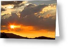 Rainey Sunset Greeting Card