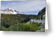 Rainier Journey Greeting Card by Mike Reid