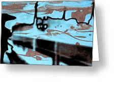 Rainy Day - Serigraphic Art Silhouette Greeting Card by Arte Venezia