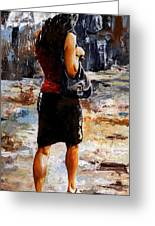 Rainy Day - Woman Of New York 04 Greeting Card