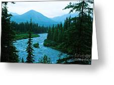 Rainy Day At The River Greeting Card