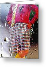Rainy Day Clown 2 Greeting Card by Steve Ohlsen