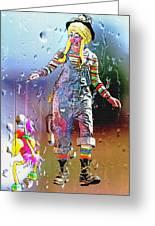 Rainy Day Clown 3 Greeting Card by Steve Ohlsen