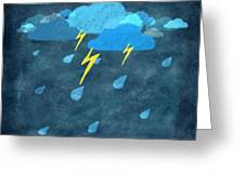 Rainy Day With Storm And Thunder Greeting Card