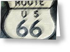Rainy Night On Route 66 Greeting Card