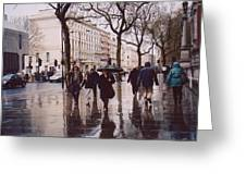 Rainy Sunday On Cromwell Road In London England Greeting Card
