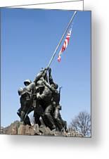 Raise The Flag Greeting Card