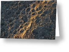 Raking Light Rock Greeting Card