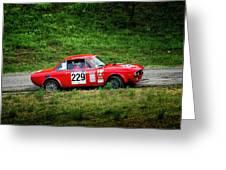 Rally Lancia 02 Greeting Card