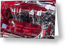 Ram Jet Pfi Gm Performance Parts Engine Greeting Card