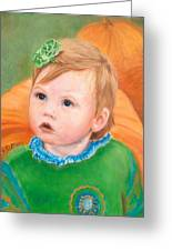 Ramey Kate In The Pumpkin Patch Greeting Card