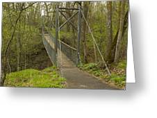Ramsey Swing Bridge 2 Greeting Card