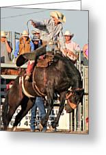 Ranch Bronc Rider Greeting Card