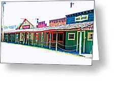 Ranch Buildings - Hdr White Greeting Card