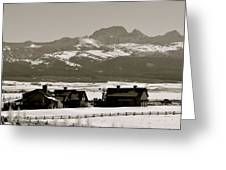 Ranch With A View Greeting Card