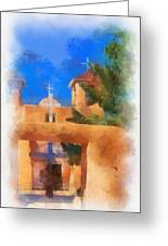 Ranchos Church Gate - Aquarell Greeting Card