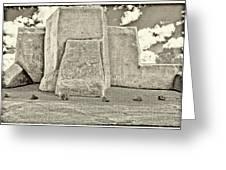 Ranchos Church Old Photo Greeting Card