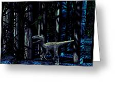 Raptor Dinosaur Greeting Card