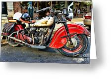 Rare Indian Motorcycle Greeting Card