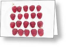 Raspberry Formation Greeting Card