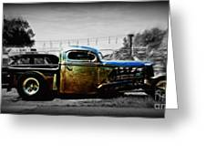 Rat Rod Profile Greeting Card