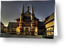 Rathaus At Wernigerode Greeting Card
