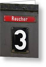 Raucher Greeting Card by Falko Follert